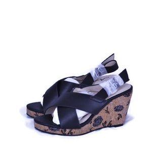 Annie Hypo Drive Sandals Wedges Cork Slingback